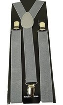 "Mens/Womens/Juniors  ""Gray"" Color Y-back Adjustable Suspender - $6.92"