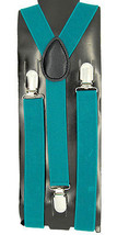 "Unisex Clip-on Braces Elastic ""Jade Dome"" Color Y-back Adjustable Suspender - $6.92"