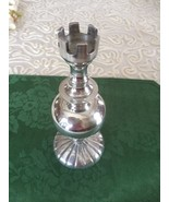 """Silver Metal Chess Rook Vase Jar Removable Top 8"""" - $29.69"""