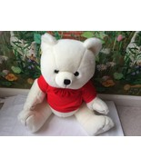 "Steven Smith Teddy Bear Plush 24"" Stuffed Animal White in a Red Shirt  L... - $48.51"