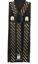 "Unisex Clip-on Braces Elastic ""Gold Star"" Y-back Suspender - $3.95"