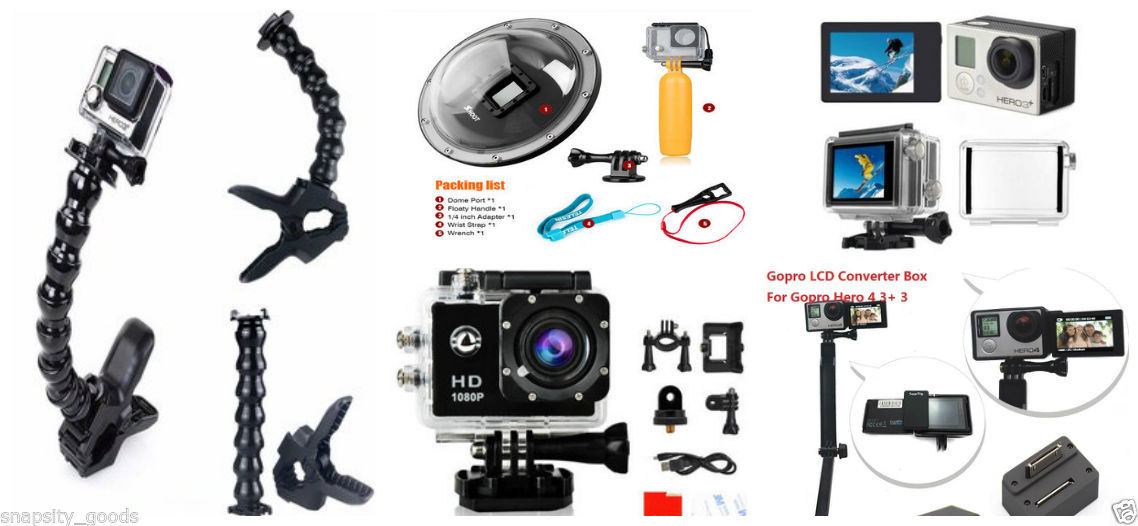 NEW GoPro HERO4 3+ 3 5-in-1 Action 1080P Camera Set Kit GoPro Accessory Bundle for sale  USA
