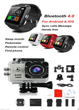 SJ4000 1080P HD Silver Action Camera 2-in-1 3.0 Smart Watch Accessory Go... - $47.95