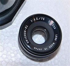 Omicron-EL 75mm Enlarging Lens 1:4.5 - 45 Japan... - $33.85