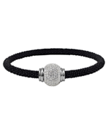 "7.25"" Black Tone Stainless Steel Bangle Bracele... - $23.00"