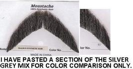 WALRUS SALT & PEPPER SYNTHETIC HAIR MUSTACHE - $15.00