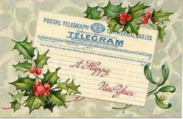 Happy New Year Paul Finkenrath of Berlin 1911 Post Card - $6.00