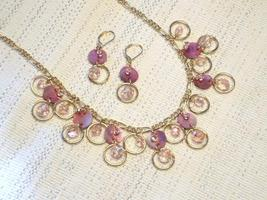Cookie Lee Shimmering Pink Shell Set - Beautiful & New! - $18.00