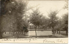 The Gazebo Stromburg Nebraska 1906 Real Photo Post Card - $5.00