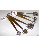 Lot 2 Norpro 3pc Garnishing Spoons Fruits Butter Cheese - $6.95
