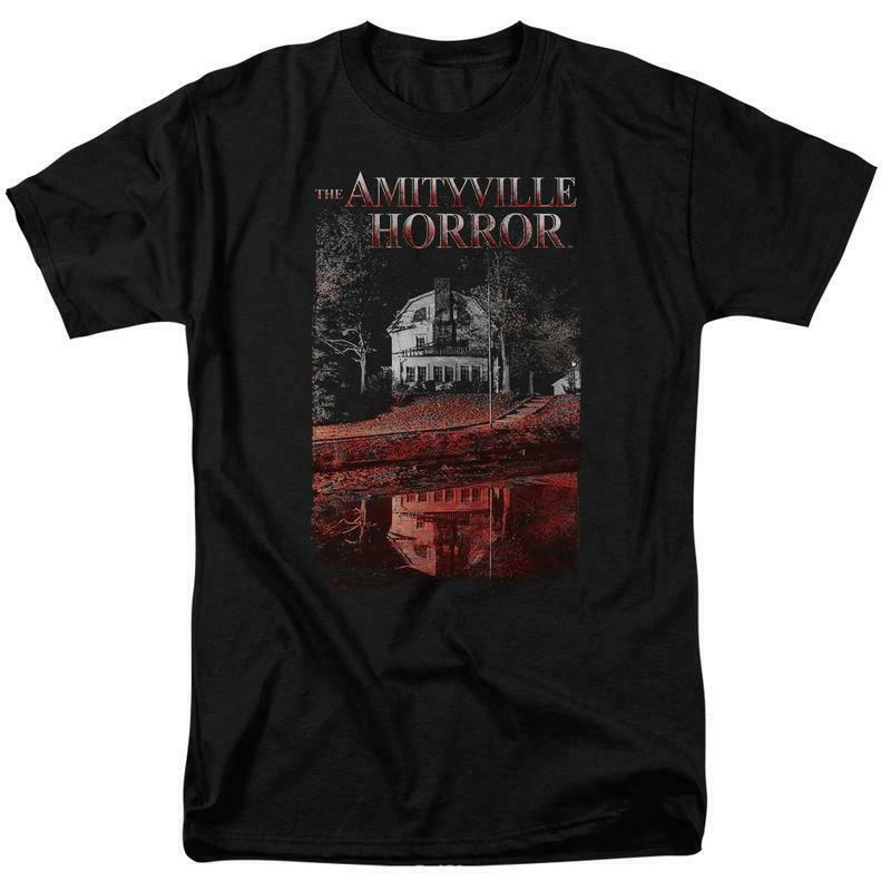 The Amityville Horror House Lutz Family Retro 70s 80s Paranormal T-shirt MGM325