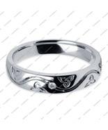 Diamond Round Cut Anniversary Wedding Band Ring 14k White Gold Plated 92... - $42.99