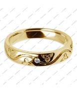 Women's Engagement Band Ring Round Cut Diamond 14K Yellow Gold Plated 92... - $42.99