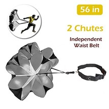 TRIWONDER 56 inch Speed Training Resistance (Black - 56in with 2 chutes) - $38.90