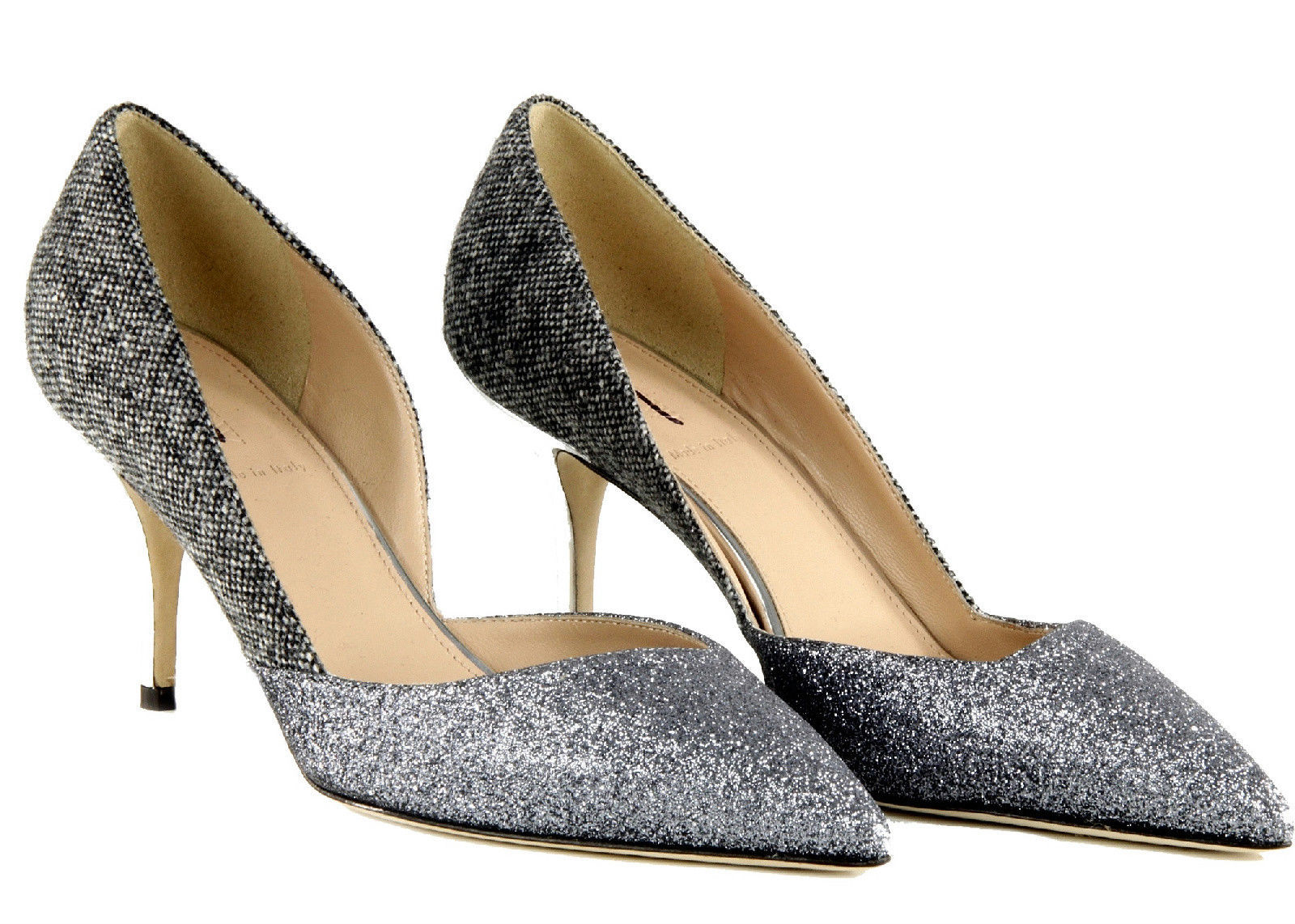 0bf3cf96f46 J Crew Colette Glitter D Orsay Pumps 7 E0757 and 32 similar items