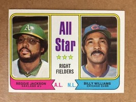 1974 Topps #338 Reggie Jackson / Billy Williams Baseball Card NM Condition - $3.99