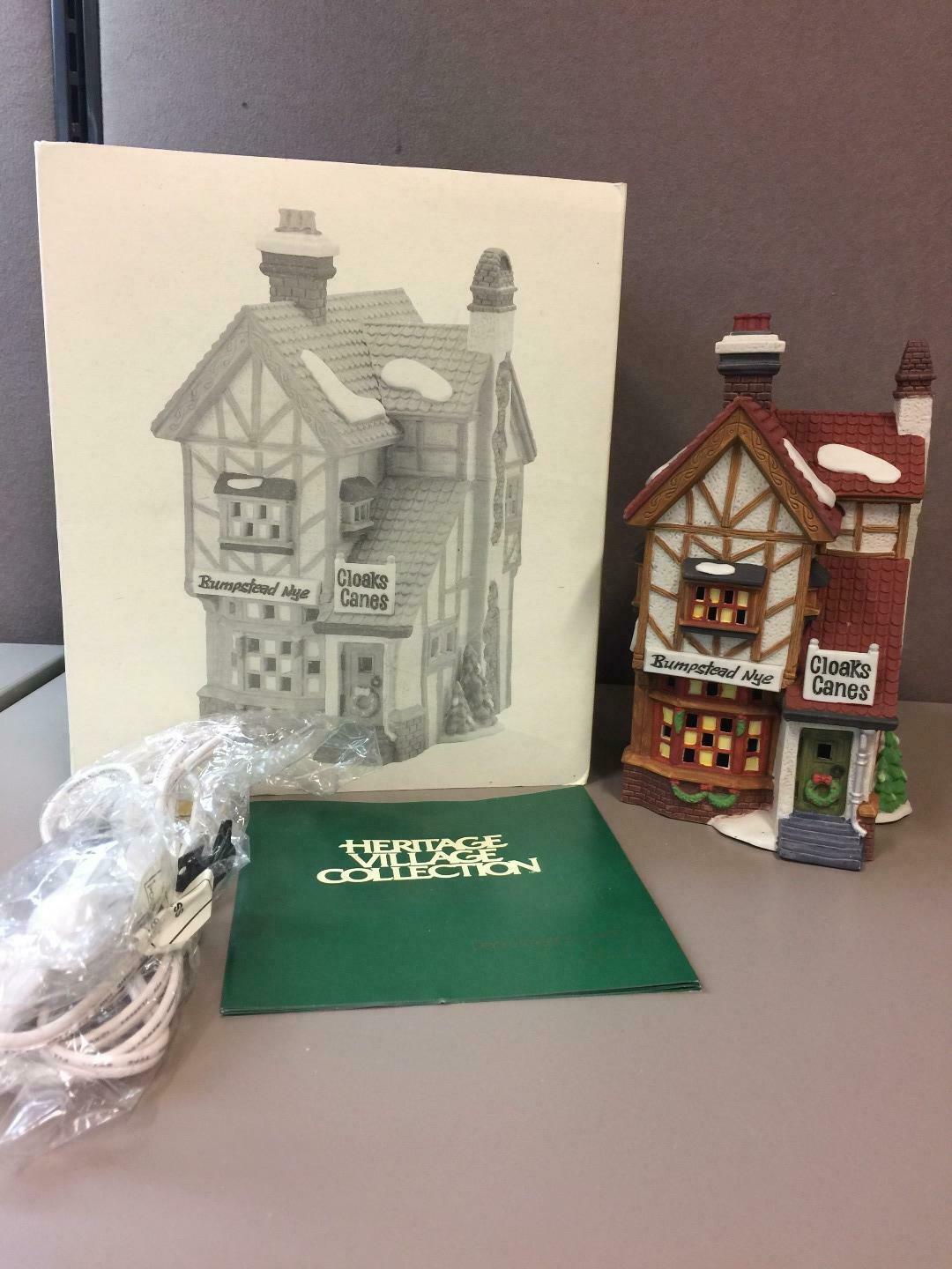 Primary image for BUMPSTEAD NYE CLOAKS & CANES, DICKENS VILLAGE #58085, DEPARTMENT 56 IOB