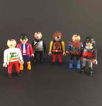Lot Of 6 Geobra Playmobil People Soccer/Racer/K... - $13.96