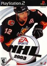 NHL 2003 - PlayStation 2  - $2.79