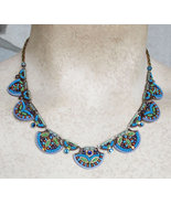Signed ADAYA Maya Rayten Mosaic Necklace - $248.00