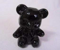 "Boyd Glass Fuzzy The Bear # 20 Plum Looks Black 3"" High Figurine B In Diamond - $12.99"
