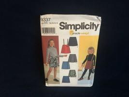 Simplicity 9337 Children's Skirt pattern Children's size 7,8,10,12,14 - $2.92