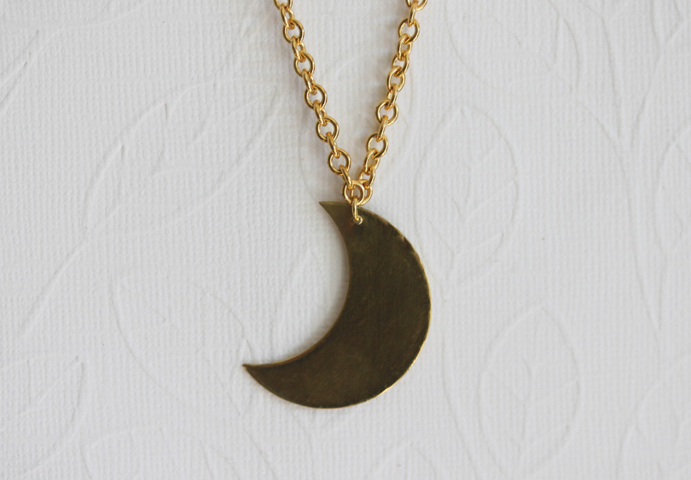 Primary image for Moon Pendant Necklace ,  Large Moon Necklace, Crescent Moon Necklace