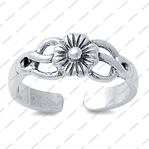 Women's Journey Collection Sterling Silver Adjustable Flower Toe Ring - ... - $14.99