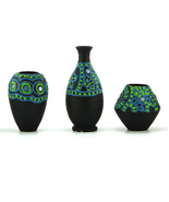 eKolhapuri 3D work Mini Three Show Piece Teracotta Pot - $32.00