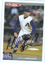 Mike Koplove autographed Baseball Card (Arizona Diamondbacks) - $14.00