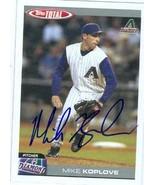 Mike Koplove autographed Baseball Card (Arizona Diamondbacks) - $14.00