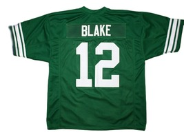 Blake #12 Necessary Roughness Texas State New Men Football Jersey Green Any Size image 5