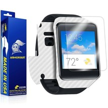 ArmorSuit MilitaryShield Samsung Galaxy Gear Live Screen + White Carbon Skin NEW - $29.99