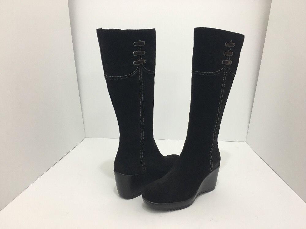 La Canadienne Galaxy Brown Suede Women's Knee High Platform Wedge Heel Boots 5 M image 2
