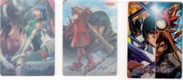 S-CRY-ed (3) Promotional See Through Trading Cards * ANIME - $5.88