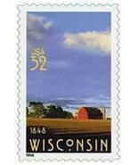 1998 32c Wisconsin Statehood 150th Anniversary Scott 3206 Mint F/VF NH - ₹82.37 INR