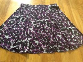 George Stretch Jersey Floral A Line Skirt Purple Gray XXL 20 - $7.69
