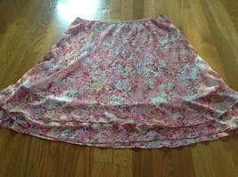 Covington Pink Floral A Line Skirt Sz XL - $14.01
