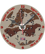 Support our troops cd clock Afghanistan bfpo army gift idea personalised free - $9.00