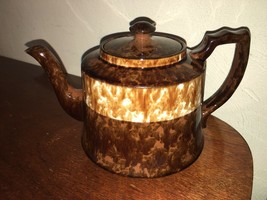 PB. B. Brown & White Teapot England - $12.50