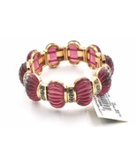 Napier Ribbed Stretch Bracelet Simulated Crystals Translucent Purple - $18.79