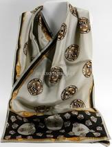 Vera Neumann All Silk Vintage Rectangular Scarf Medallions, Shields, Cords - $8.42