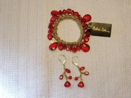 Cookie Lee Bracelet & Earring Set with Genuine Crystal & Glass Pearls - New! - $15.00