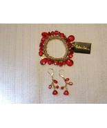 Cookie Lee Bracelet & Earring Set with Genuine Crystal & Glass Pearls - ... - $15.00