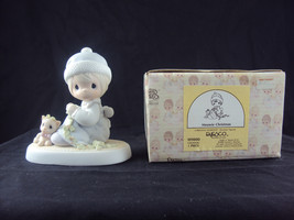 Precious Moments 109800, Meowie Christmas, 1988, Retired 2000, Free Ship... - $24.95