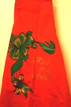RING IN THE SEASON WITH THIS RED CHRISTMAS APRON WITH REAL BELLS - $21.03