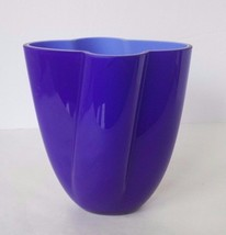 Blue Glazed Glass Vase - $9.49
