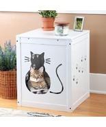 Etna Cat Kitty Litter Hide Away End Table Cabin... - $117.86