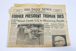 ORIGINAL Vintage Dec 26 1972 Death of Harry Truman PA Daily News Newspaper - $29.69