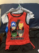 Marvel Avengers  - 3 Piece Clothing Set  ( Shorts Tee Shirt  And Tank) S... - $18.52